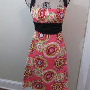 B Darlin Dress Bandana Print Pink Juniors 11/12